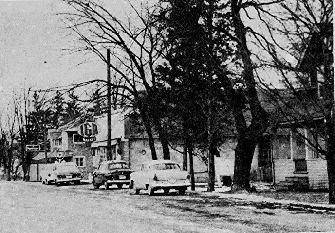 Downtown Kansasville, approximately 1956